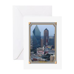 Dallas Skyline #3 Greeting Card