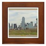 Dallas Skyline #4 Framed Tile