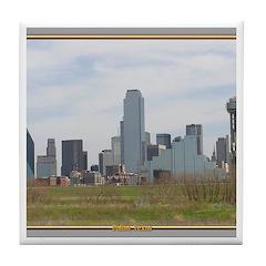 Dallas Skyline #4 Tile Coaster