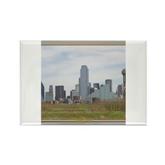 Dallas Skyline #4 Rectangle Magnet