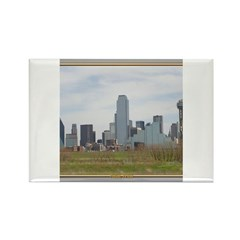 Dallas Skyline #4 Rectangle Magnet