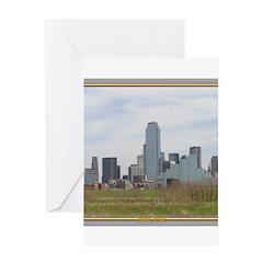 Dallas Skyline #4 Greeting Card