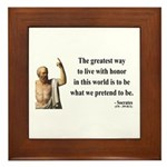 Socrates 4 Framed Tile
