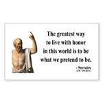 Socrates 4 Rectangle Sticker
