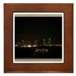 Dallas Skyline #5 Framed Tile