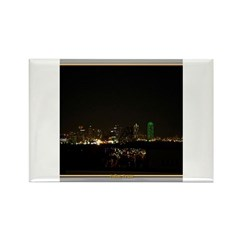 Dallas Skyline #5 Rectangle Magnet