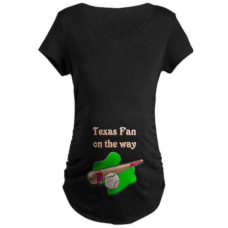 Texas Fan on the way Maternity Dark T-Shirt