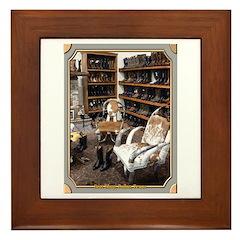 Boot Shop Framed Tile