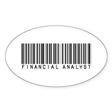 Financial Analyst Barcode Oval Decal