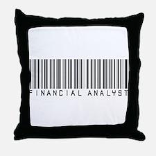 Financial Analyst Barcode Throw Pillow