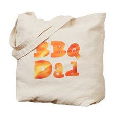 Flame Dad Barbecue Father's D Tote Bag