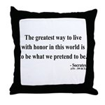 Socrates 4 Throw Pillow