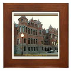 Old Red Courthouse Framed Tile
