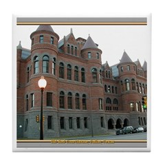 Old Red Courthouse Tile Coaster