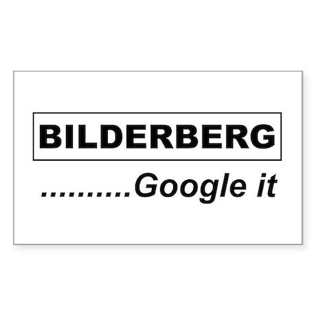 Google Bilderberg Rectangle Sticker