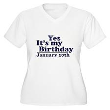 January 10th Birthday T-Shirt