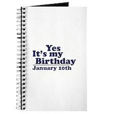 January 10th Birthday Journal