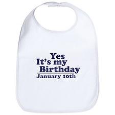 January 10th Birthday Bib