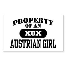 Property of an Austrian Girl Rectangle Decal