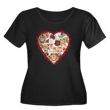 Victorian Valentine's Heart T