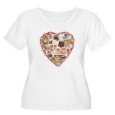 Victorian Valentine's Heart T-Shirt