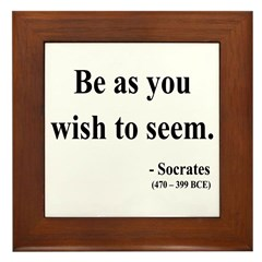 Socrates 5 Framed Tile