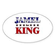 JAMEL for king Oval Decal