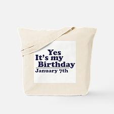 January 7th Birthday Tote Bag