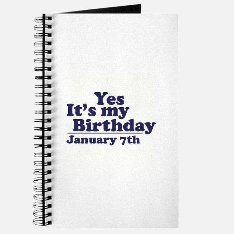 January 7th Birthday Journal