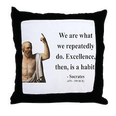 Socrates 6 Throw Pillow
