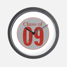 class of '09 (red and grey) Wall Clock