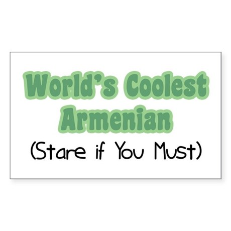 World's Coolest Armenian Rectangle Sticker