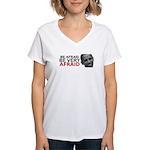 Be Afraid of Obama Women's V-Neck T-Shirt