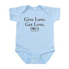 """Give Love. Get Love."" Infant Bodysuit"