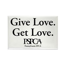 """Give Love. Get Love."" Rectangle Magnet"