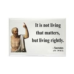 Socrates 7 Rectangle Magnet
