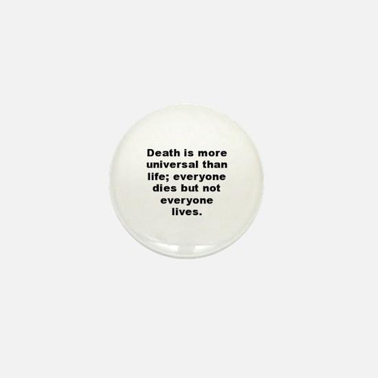 Cool Sachs quotation Mini Button