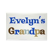 Evelyn's Grandpa Rectangle Magnet