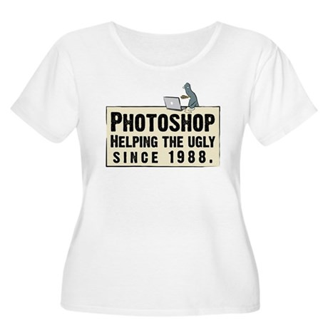 Photoshop - Helping the Ugly Women's Plus Size Sco