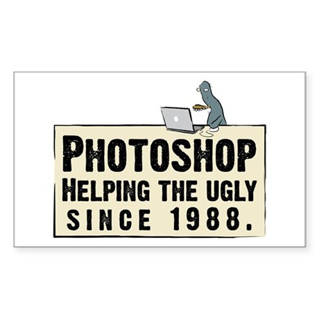 Photoshop - Helping the Ugly Sticker (Rectangular