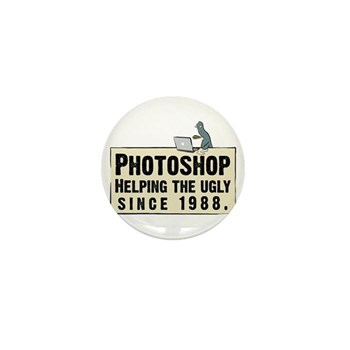 Photoshop - Helping the Ugly Mini Button (10 pack