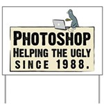 Photoshop - Helping the Ugly Yard Sign