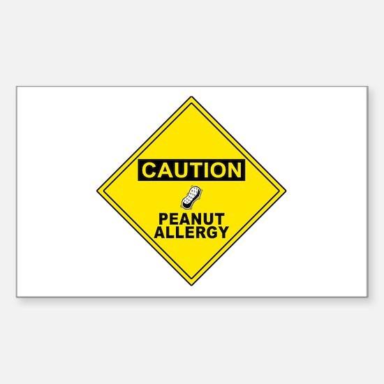 Peanut Allergy Rectangle Decal