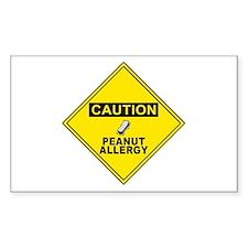 Peanut Allergy Rectangle Stickers