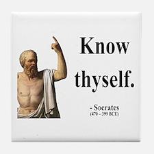 Socrates 8 Tile Coaster