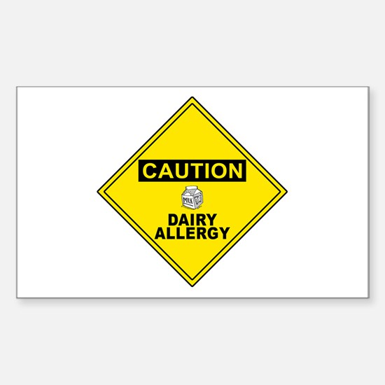 DAIRY ALLERGY Rectangle Decal