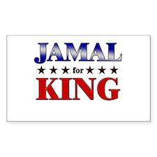JAMAL for king Rectangle Decal