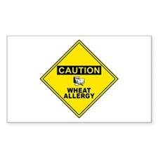 WHEAT ALLERGY Rectangle Decal