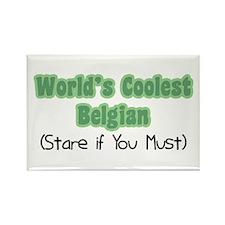 World's Coolest Belgian Rectangle Magnet
