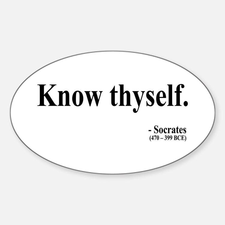 Socrates 8 Oval Decal